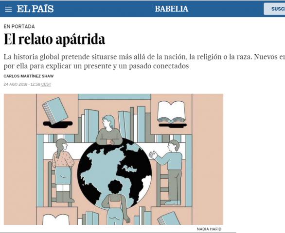 El relato apátrida, por Carlos Martínez Shaw, presidente de Instituto Atarazanas. Ilustración: NADIA HAFID